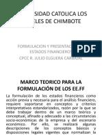 Formulacion y Presentacion de Eeff
