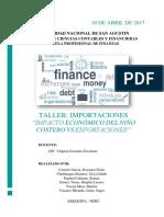Impacto Económico Del Niño Costero vs Exportaciones