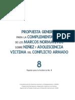 propuesta complementaria sobre niñez y adolescencia en el postconflicto en Colombia