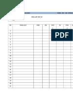 Form Cek List Set Sc