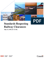 Standards Respecting Railway Clearances