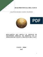 PROPUESTA O. M. TAXI Con Modificaciones de Fecha 04-07-2017
