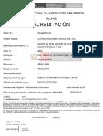 Acreditacion Mype Intersof Eirl