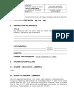 Formato 02 Para Anteproyectos Práctica Empresarial IE