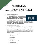 Pedoman Assessment Gizi