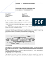 Experience and Practical Considerations in the Design of Viscous Dampers