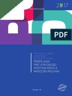Protocolo Clínico e Diretrizes Terapêuticas Para Profilaxia Pré-exposição (Prep) de Risco à Infecção Pelo Hiv - Ministério Da Saúde - 2017