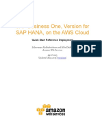 SAP Business One for HANA on the AWS Cloud