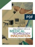 01112010_FDA Impact on US Medical Technology Innovation_Backgrounder