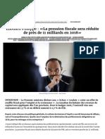 Edouard Philippe _ «La pression fiscale sera réduite de près de 11 milliards en 2018»