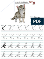 Alphabet Tracers k Cursive