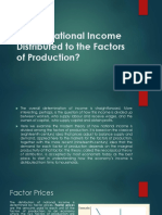 How is National Income Distributed to the Factors