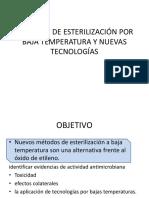 Métodos de Esterilización Por Baja Temperatura y Nuevas