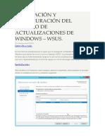 Instalacion y Configuracion Del Servicio Wsus