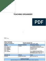 Teaching Organiser Cycle