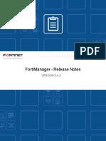 Fortimanager v5.4.2 Release Notes