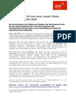 +++ Pressemeldung Juist_Bewerbungen für das neue Juister Gästeparlament starten jetzt!  +++