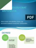 Farmakologi Obat Antiemetik