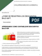 ¿COMO SE REGISTRAN LOS DESCUENTOS BAJO NIIF_ _ Contauditorizate.pdf