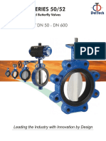 Series 50 52 Delval Butterfly Valves