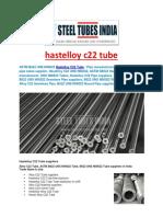 Hastelloy c22 Tube