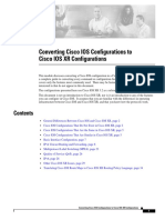 Cisco IOS Cisco XR Difference Guide