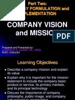 Strategy Formulation- Final