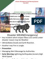 Disaster Management Govt PPT by JMV LPS LTD