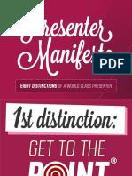 Presenters Manifesto
