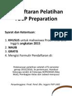 Pendaftaran Pelatihan TOEP