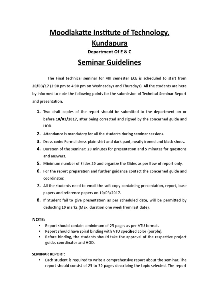 Technical seminar guidelinesfinal for merge yadclub Choice Image