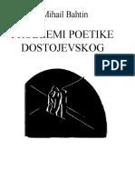 Mihail Bahtin - Problemi poetike Dostojevskog