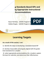 developing standards based ieps and accommodations