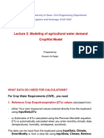 L5Modeling of Agricultural Water