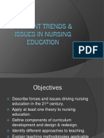 Current Trends Issues in Nursing Education Nursing Education Ppt
