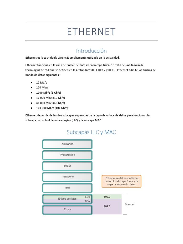 Resumen Capitulo 5-Ethernet