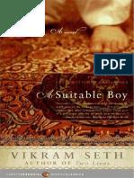 Vikram Seth a Suitable Boy