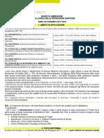 Bando Professioni Sanitarie 2017-18 Dell'Università Degli Studi Di Trieste