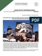 """20-07-17 Iniciativa de la Ley SB54 California Values Act busca legalizar el Estatus de """"Estado Santuario"""" en California"""