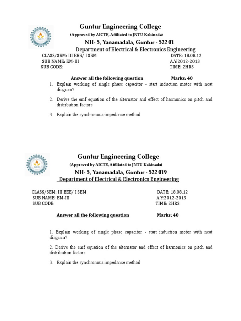 Em Iii Electrical Impedance Network Single Phase Capacitor Start Induction Motor Wiring Diagram