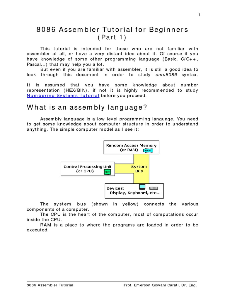 Assembly Programming Tutorial - tutorialspoint.com