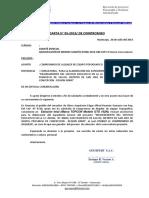 Carta de Compromiso Alquiler de Equipo Topografico