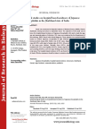 Journal of Research in Biology - Volume 5 Issue 1
