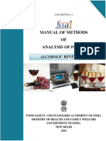NTD - Manual of Methods of Analysis of Foods - ALCOHOLIC BEVERAGES - FSSAI India 2015