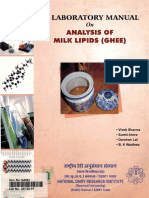 NTD - Lab Manual of Analysis of Milk Lipids (Ghee) - 2007 - India