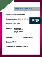 Plan de Clase Web 1 0 y 2 01