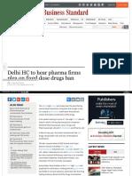 Delhi HC to Hear Pharma Firms - Taj Pharma