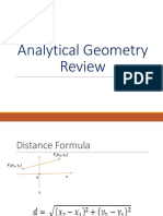 Analytic Geometry Review