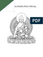 Shakyamuni Buddha Water Offering