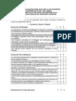 Ficha de Evaluación Webquest y Caza Del Tesoro